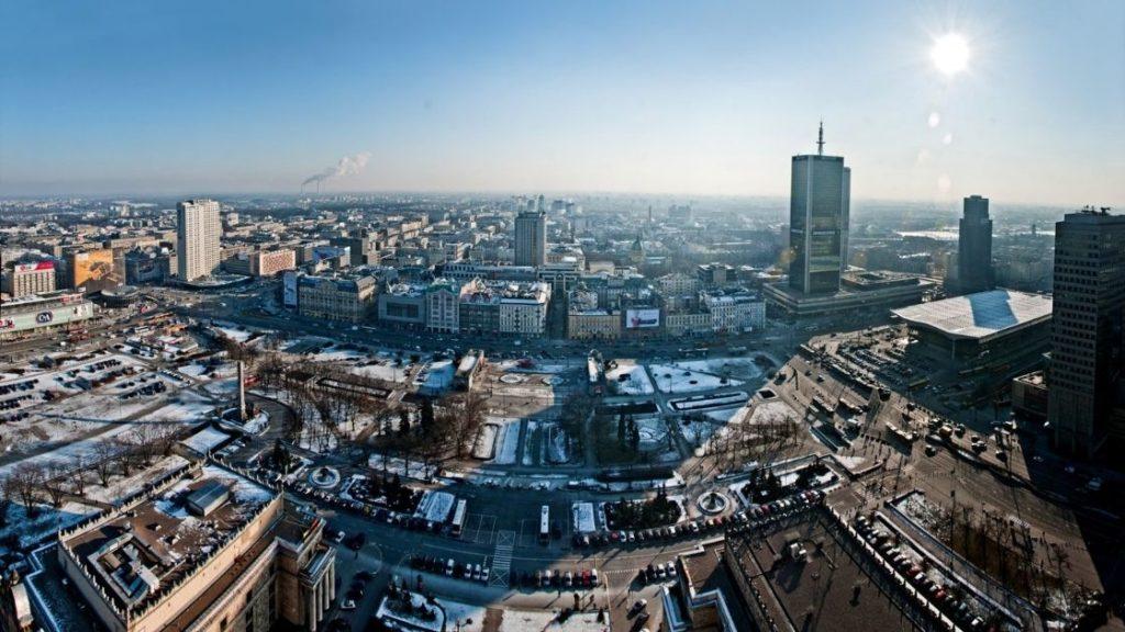 Warszawa Pałac Kultury i Nauki taras