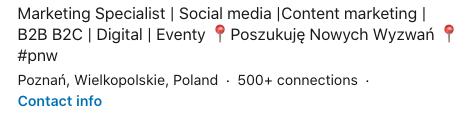Przykład nagłówek LinkedIn #pwn
